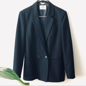 Nordstrom POV 100% Wool Double Breasted Blazer